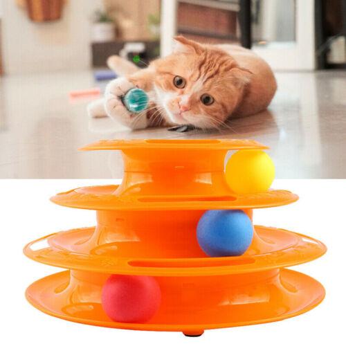 Katzenspielzeug Katzen Spielturm Kreisel Bällen Intelligenzspielzeug mit Bällen