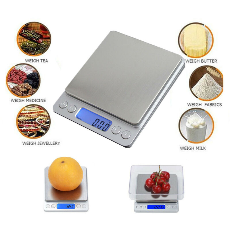 Digital Kitchen Scale Food Scale Gram Electronic Scale 0.1g Accurate 6.6lbs USA