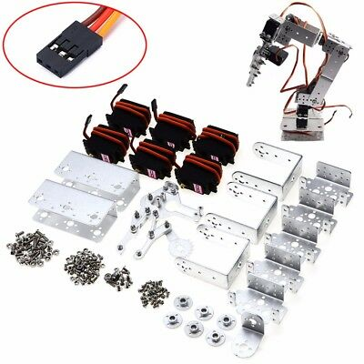 Rot2u 6Dof Aluminium Robot Arm Clamp Claw Kit W  Servos For Arduino Mechanical