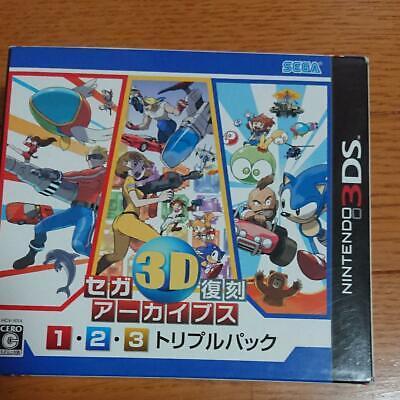 Nintendo 3DS Sega 3D Clásicos Colección 1 2 3 Triple Pack Archivos Japón Juego segunda mano  Embacar hacia Spain
