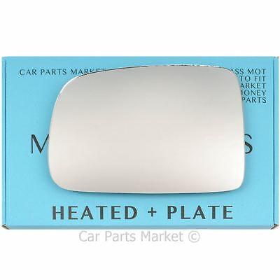 Left Passenger Side Heated Convex Wing Mirror Glass for HONDA HRV CRV 1996-2006