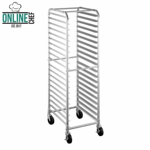 20 Pan Aluminum End Load Restaurant Bakery Bun / Sheet Pan Speed Rack Resto NSF