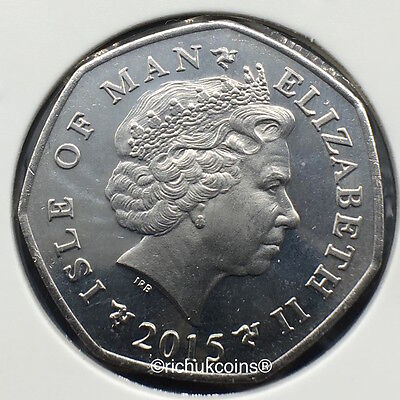 2015 T.T. The Legends Currency 50p Coin with AA die letters