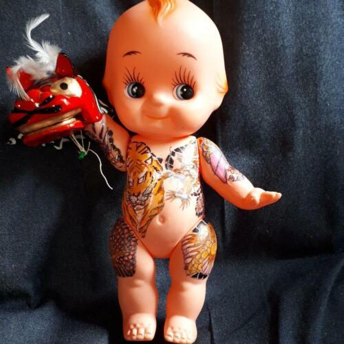 Oedo Sakura Tattoo Tattoo Yakuza Cupy Doll Dragon Tiger Color 34 cm + Lion Dance
