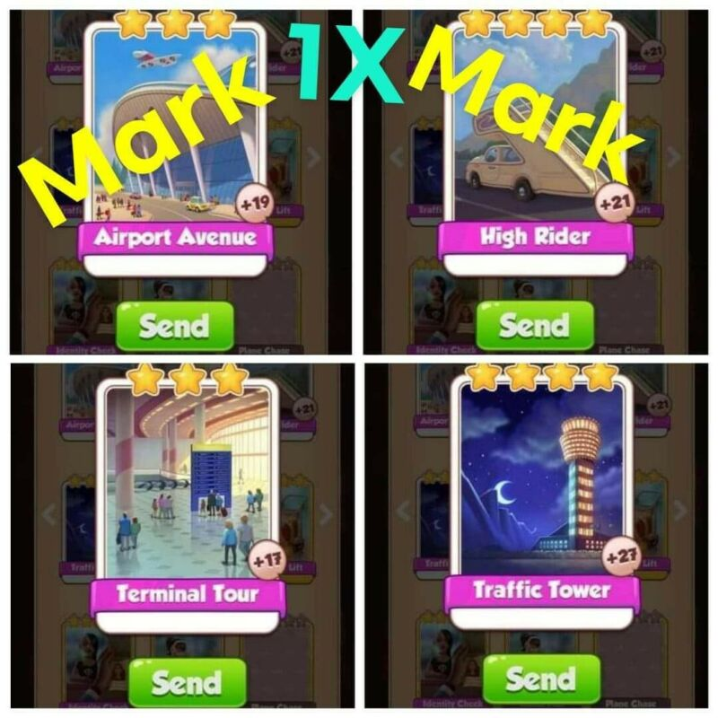 coin master cards Airport Life set 1X