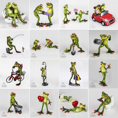 Formano Dekofigur Frosch hellgrün auf Sofa, auf Fahrrad, Dusch,mit Blumentrauß