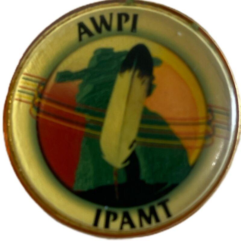 "AWPI IPAMT pin Vintage Approx 1"""