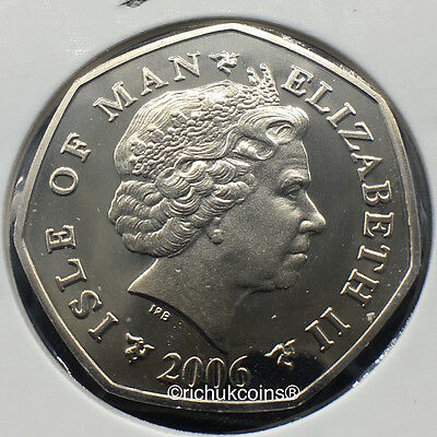 2006 IOM Xmas Diamond Finish 50p Coin with AA die marks