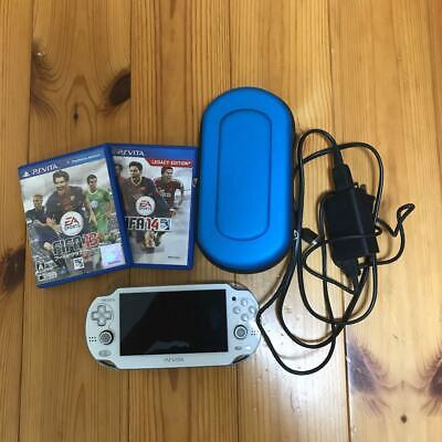 Used, Sony PS Vita Crystal White 3G / Wi-Fi Model Limited Edition PCH-1100  from jAPAN for sale  Shipping to Nigeria