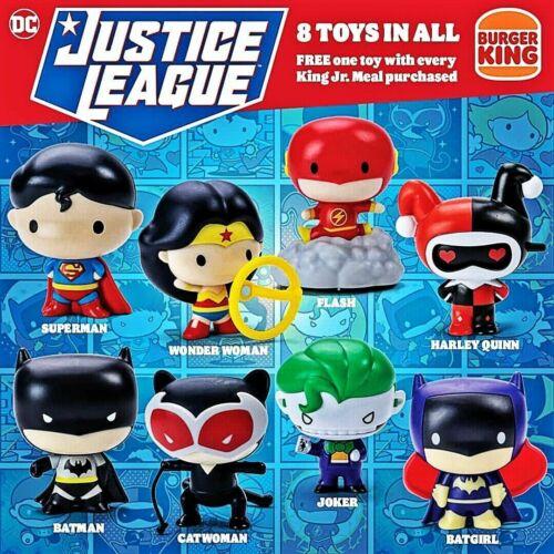 2021 Burger King DC Comics JUSTICE LEAGUE Chibi Toys  PICK YOUR TOY Mix Or Match