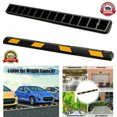 Parking Curb Garage Driveway Stopper Rubber Block Rv Trailer Wheel Tire Safety
