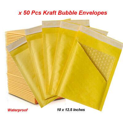 50 Pcs Kraft Bubble Mailers Mailing Padded Envelopes Large Bubble 1012.5 Inch