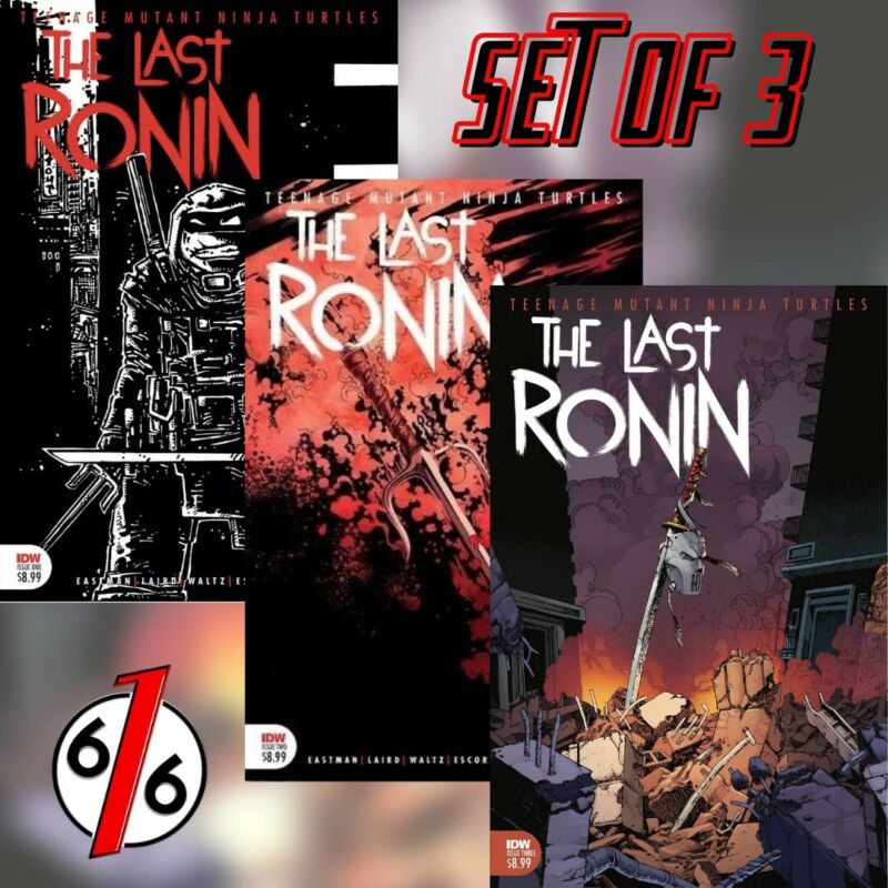 🚨🐢 TMNT THE LAST RONIN SET #1 Third Print & #2 Second Print & #3 Main Cover