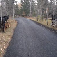 Recycled Asphalt Paving - Save money on your acreage driveway!