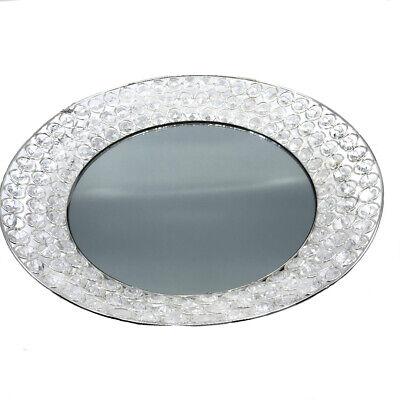 Accesorio Bandeja Plata Bandeja Tableta Decorativa de Metal Y Cristal