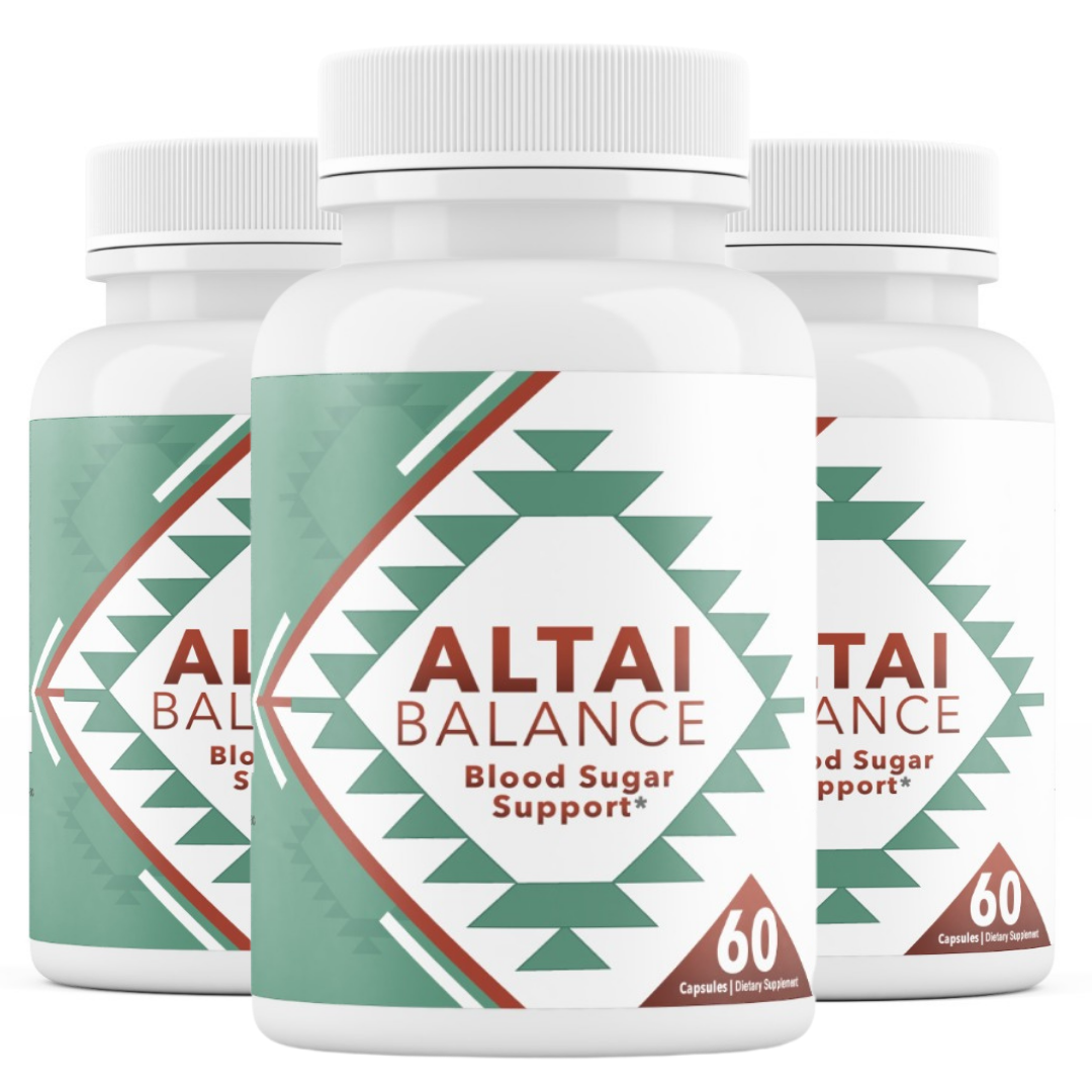 3 Bottles Altai Balance Supports Blood Sugar, Glucose Metabolism 60 Capsules