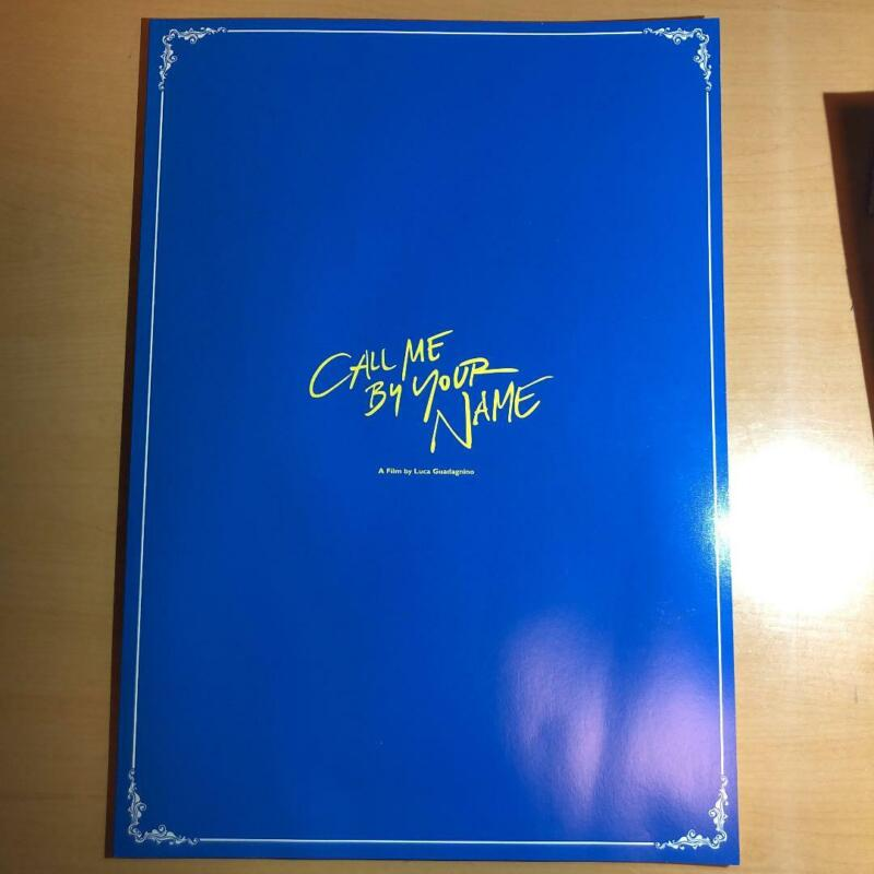 """Movie """"Call Me by Your Name"""" Luxury Pamphlet Collection Japanese Page 44 Used"""