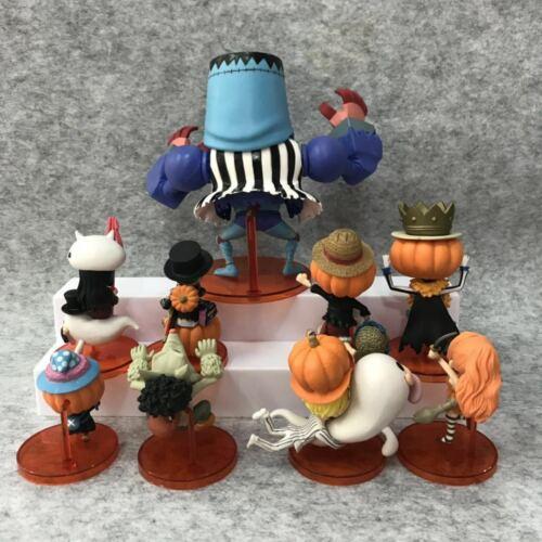 Halloween One Piece WCF Luffy Nami Roronoa Zoro Brook Action Figure 9Pcs Set Toy