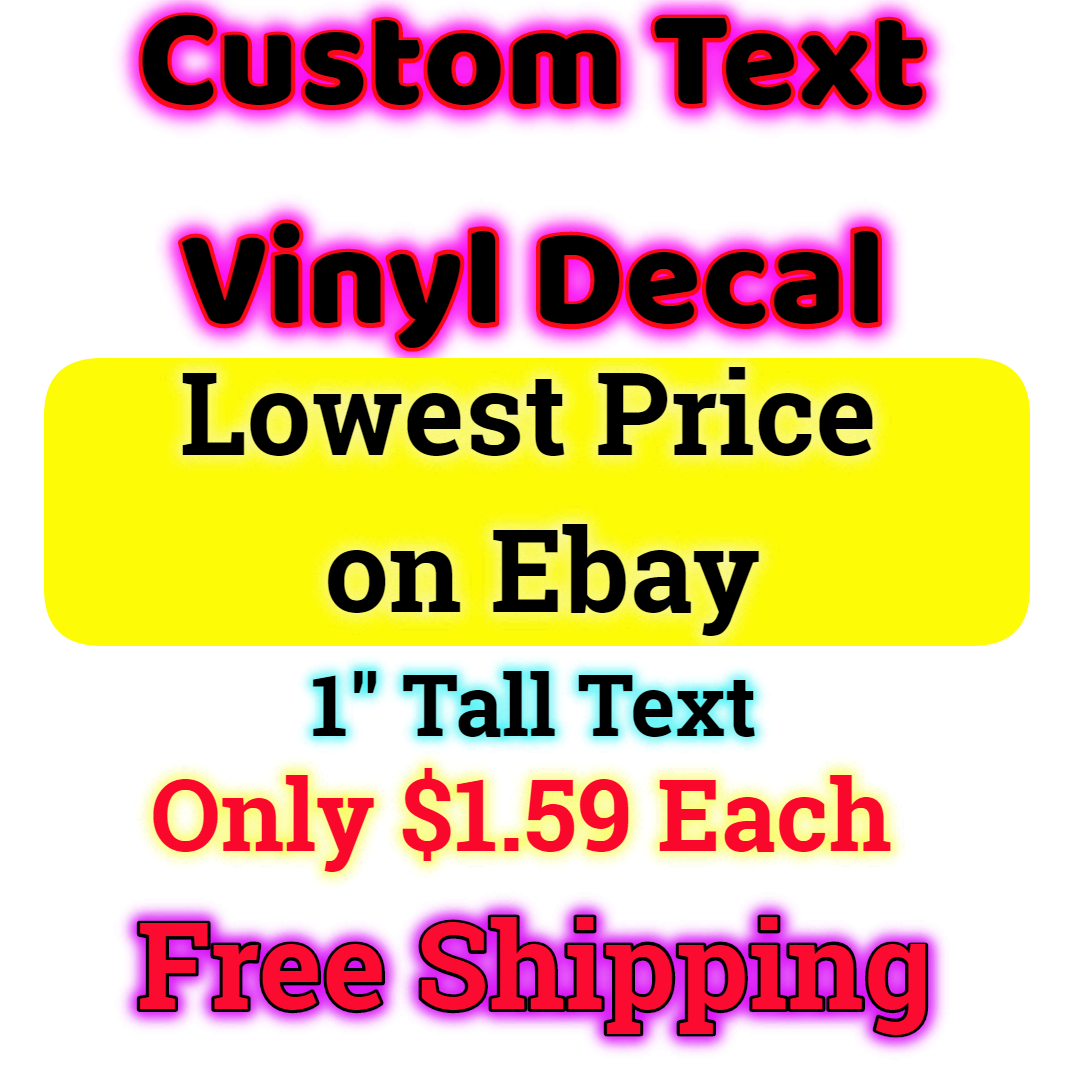 Home Decoration - Custom Personalized Vinyl Decal Lettering Window Car Wall Name Sticker
