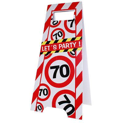 Partyschild 70. Geburtstag Flurschild Party Aufsteller Schild Tafel ()