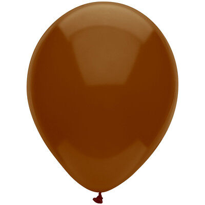 PartyMate 82227 Solid Color Latex Balloons, 15-Count, Chestnut - Solid Balloons
