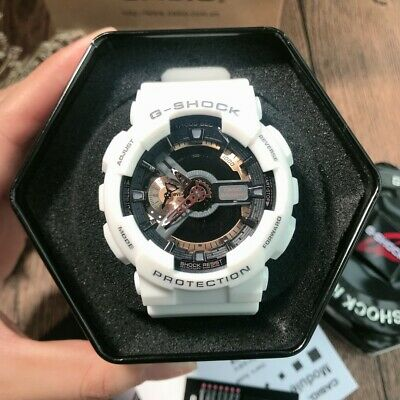 NEW G-Shock GA110RG-7A Men's Watch White-Gold Dial Resin Chronograph Watch
