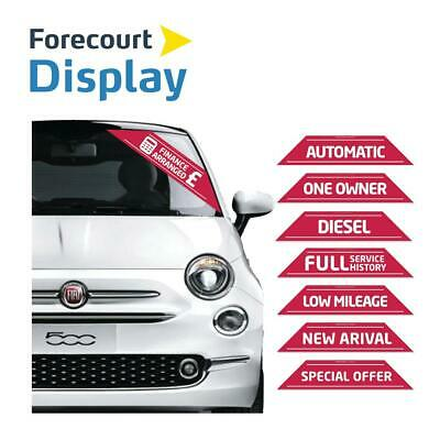 Car For Sale Sign X 25 Finance Arrange  Sticker, Self Adhesive Display Flash
