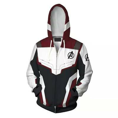 Avengers Endgame Quantum Battle Suit Hoodies Coat Cosplay Costume Sweatshirt Cos