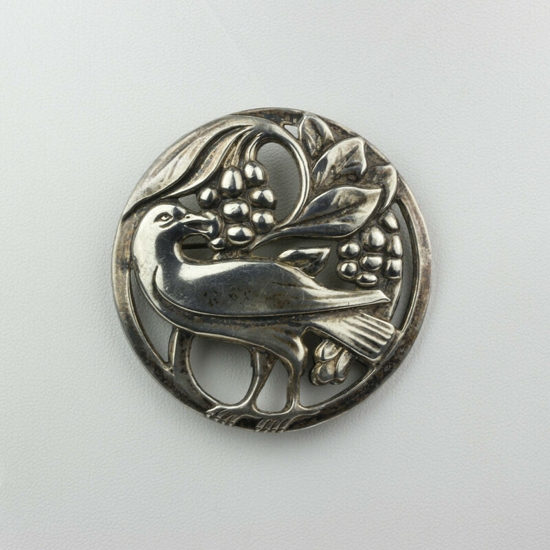 Vintage Norseland by Coro Sterling Silver Dove Bird Brooch Pin