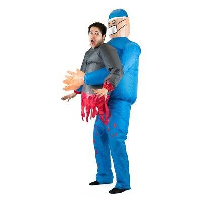 Disfraz Halloween (Bodysocks® Disfraz Hinchable de Cirujano Adulto Halloween)