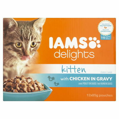 Iams Delights Cat Pouch Kitten In Gravy 12x85g