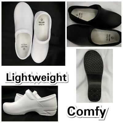 New Comfy Lightweight Foam Clogs Unisex Black Sizes 6 - 11 Nurse - Lightweight Clogs