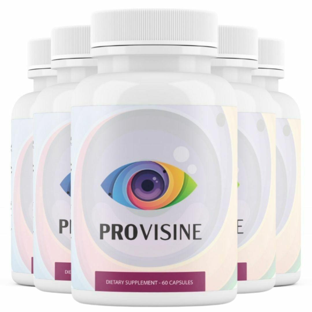 5 Bottles Provisine - Vision Support 60 Capsules x5