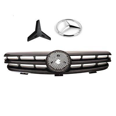Kühlergrill Schwarz Glänzend für Mercedes CLK W209 Schale und Cabrio 03/02 A