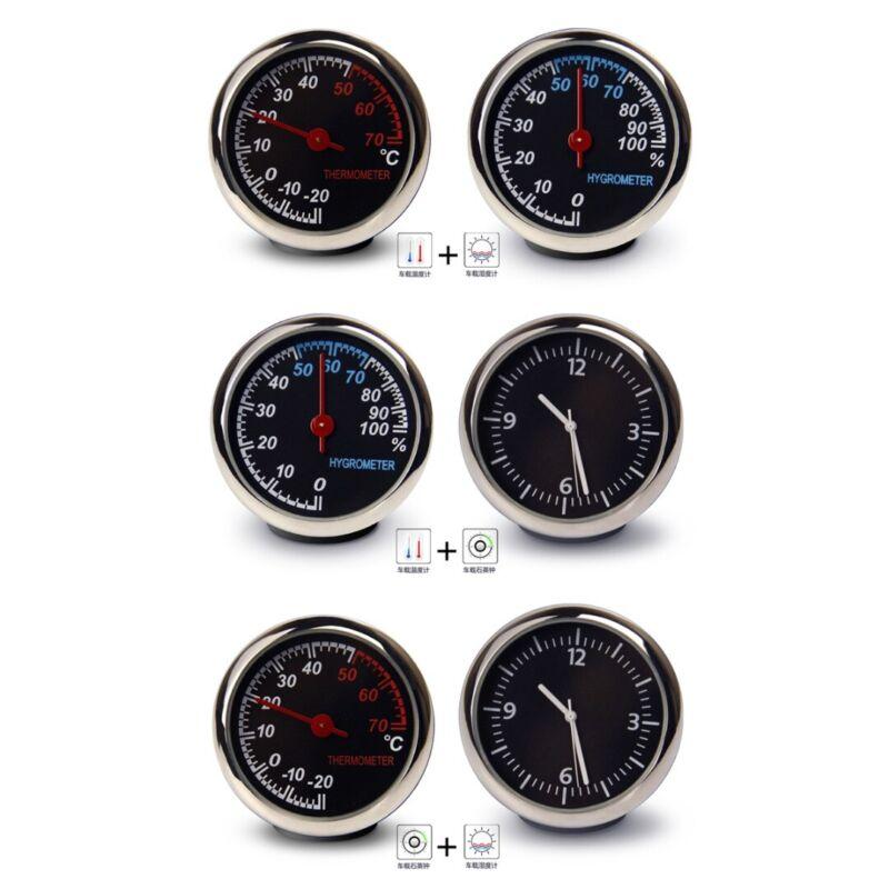 Mini Car Portable Hygrometer Time Clock Temperature Thermome