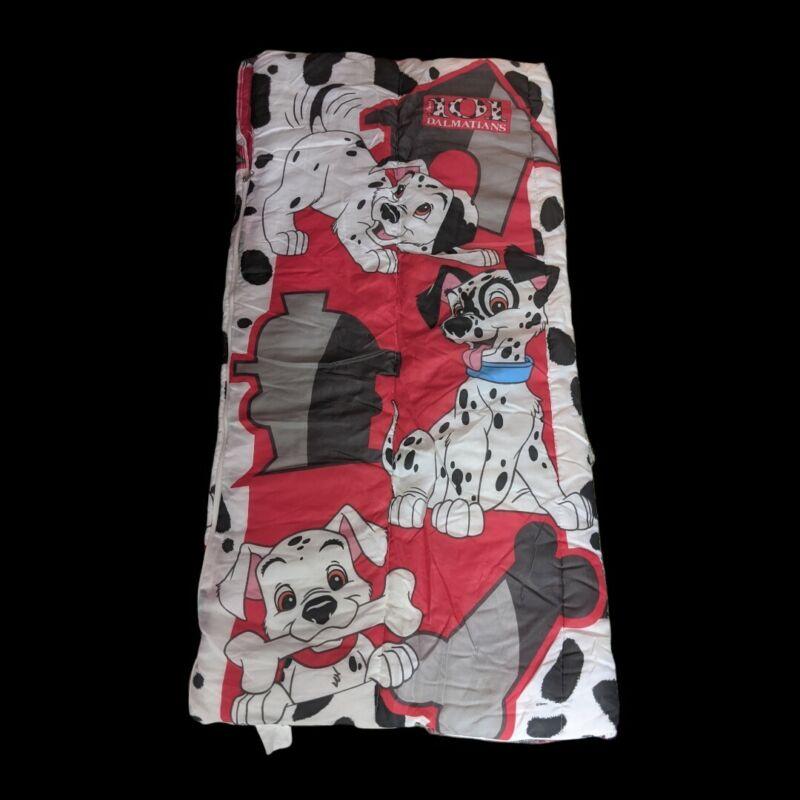 Vintage Kids Disney 101 Dalmatians Sleeping Bag  1990's