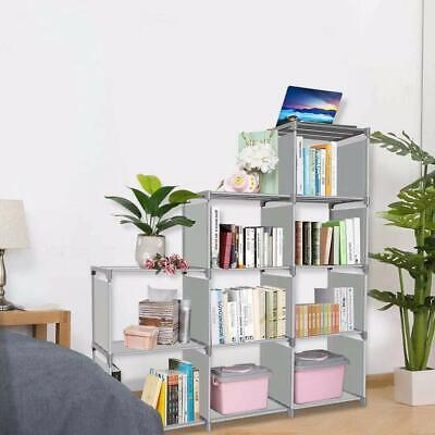 Kids Bookshelf 9 Cubes Book Shelf Office Storage Plastic Cabinet Cloth/Shoes/Toy