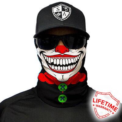 Clown Face Masks (SA CO Salt Armour SA CLOWN  Face Shield Sun Mask Balaclava )