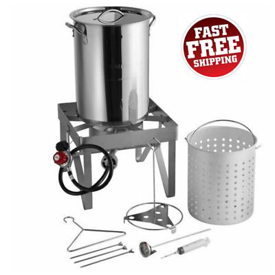 Backyard Pro 30 Qt. STAINLESS STEEL Turkey Deep Fryer Kit St