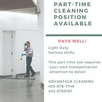 Immediate cleaning position available