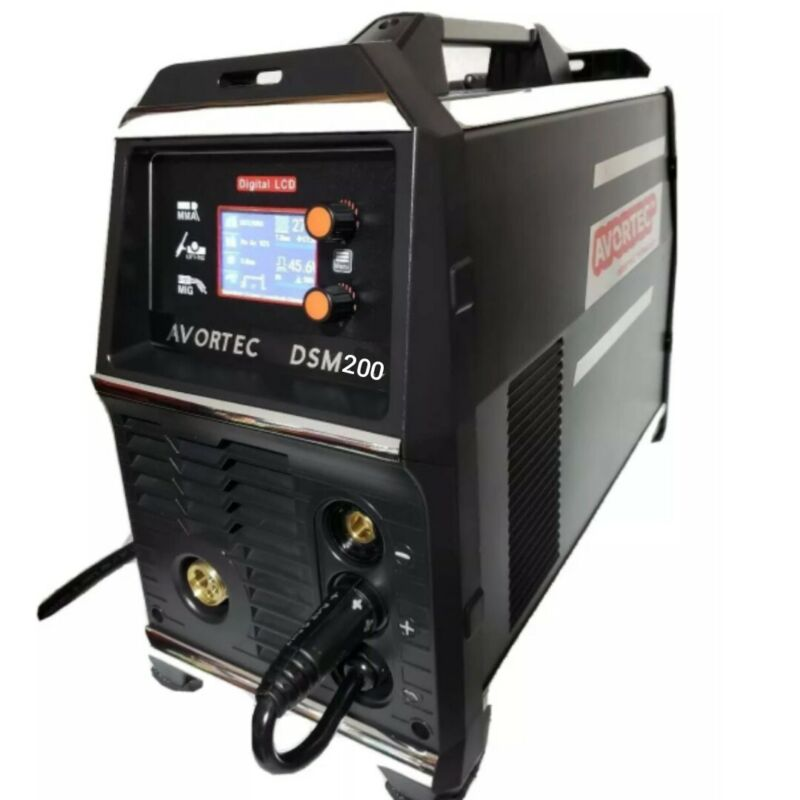 MIG WELDER DSM200 SYNERGY SINGLE/DOUBLE PULSE220V,LCD,MIG line feed/ TIG torch