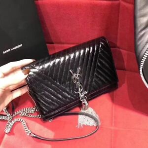 YSL chain bag in black leather
