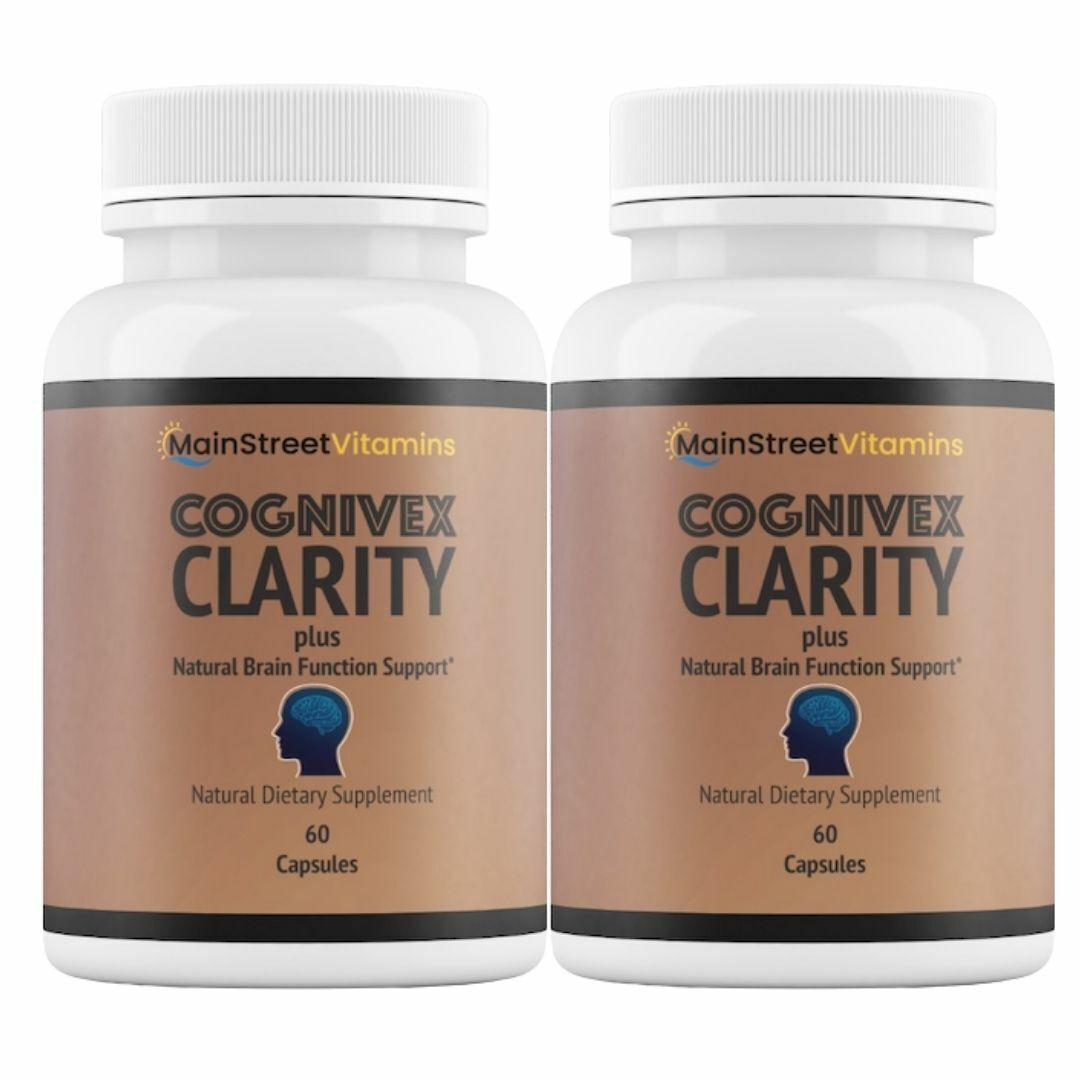 2 Bottles Cognivex Clarity Plus Brain Health - Advanced IQ Brain - 60 Capsules