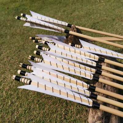 "12X31.5/"" Carbon Arrows Recurve Bow Archery Turkey Feather SP 500 Target OD 7.8mm"