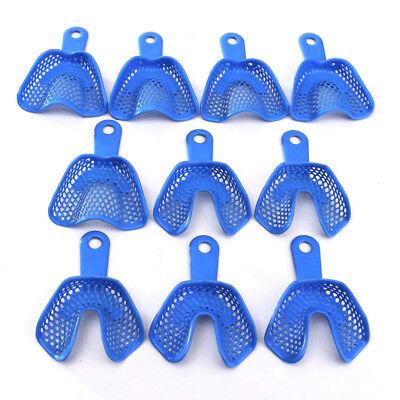 10pcs5set Plastic-steel Dental Impression Trays Autoclavable Upperlower Medium