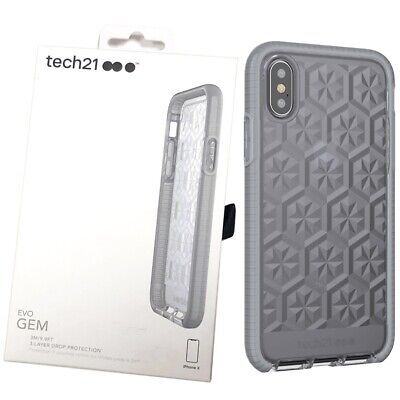 Tech21 Evo Gem Phone Case Cover for iPhone X/XS - Space Grey