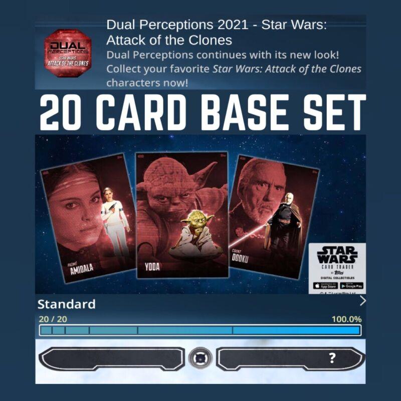 DUAL PERCEPTIONS-AOTC ATTACK CLONES-20 CARD BASE SET-TOPPS STAR WARS CARD TRADER