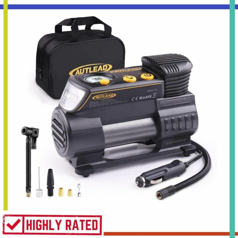 AIR COMPRESSOR Car Tires Motorcycle Bicycle Portable Tire In