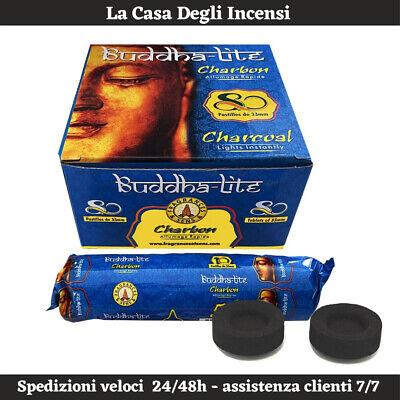 Carboncini per Bruciatore Incenso in Grani Liturgico e Narghilè Buddha Lite 33mm