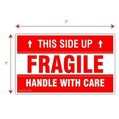 Premium 2 X 3 Fragile This Side Up Handle With Care Shipping Mailing Stickers